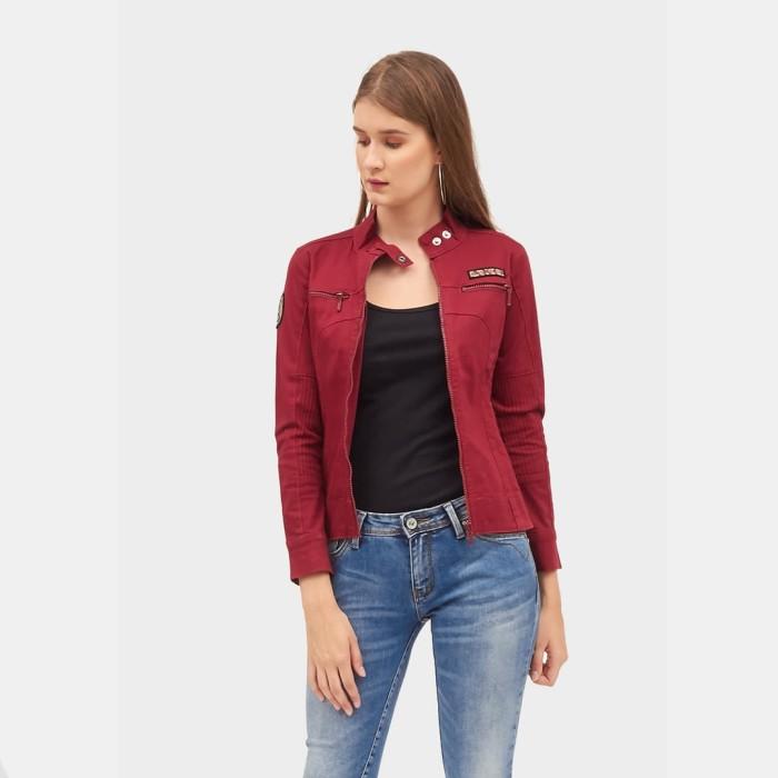 harga Ako jeans jaket denim maroon (11-0230) - maroon s Tokopedia.com