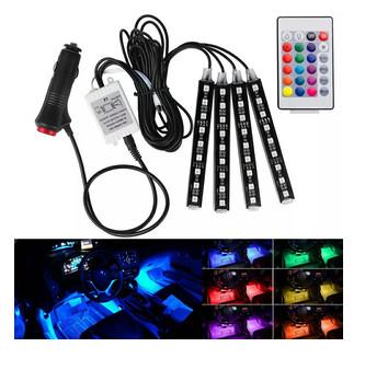 harga 4 pcs drl led kolong rgb lampu dekorasi dashboard 16 warna + remote Tokopedia.com