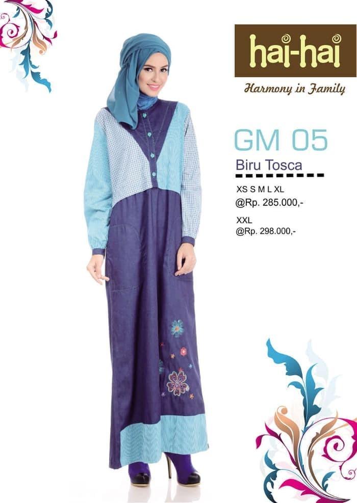 PROMO GAMIS DEWASA PREMIUM HAIHAI GM 06 / LONGDRESS WANITA / GAMIS - Orange, S