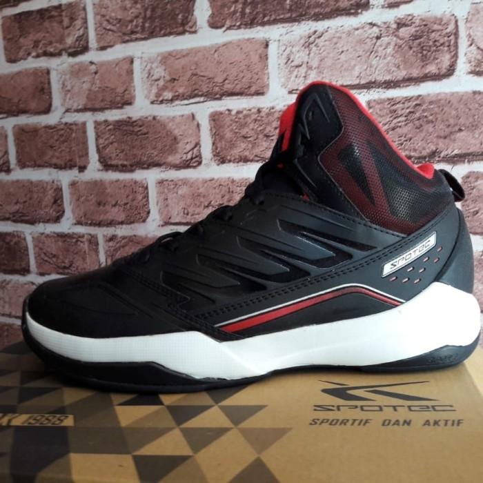 Original SPOTEC HORNET BlackRed. Sepatu Basket. Jumbo Big Size 46