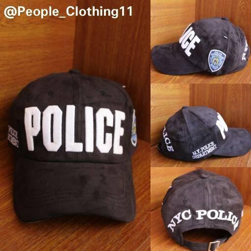 Topi Baseball Import Police Black
