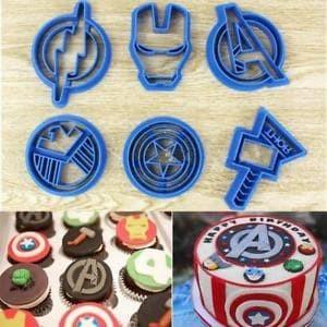 Cutter fondant cupcake avenger / cetakan cookies iron man thor avenger