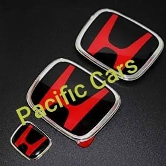 Jual Emblem Logo Honda Black Red Khusus Brio Hrv Civic Crv Mobilio