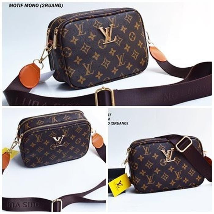 Jual tas wanita tas selempang tas LV SNAPSHOT 2 RUANG tas import tas ... 3cb4a2efed