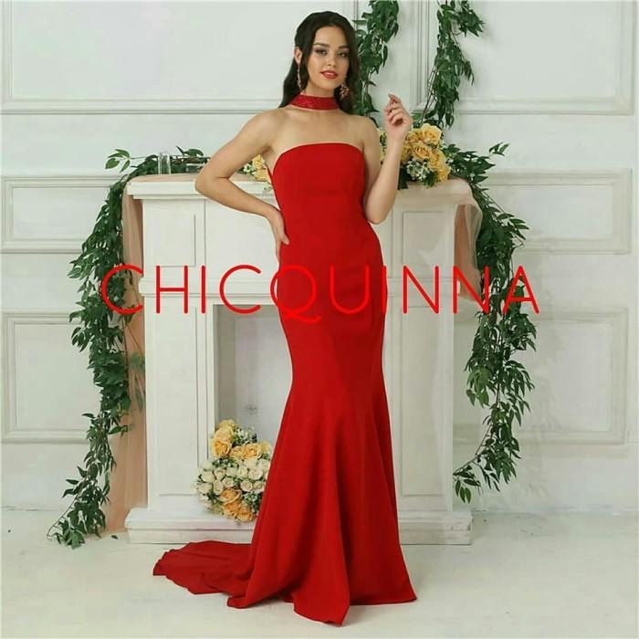 Jual Pre Order Colour Red Wedding Dress Import Harga Murah Kualitas Bagus Kota Medan Chicquinna Gown Tokopedia