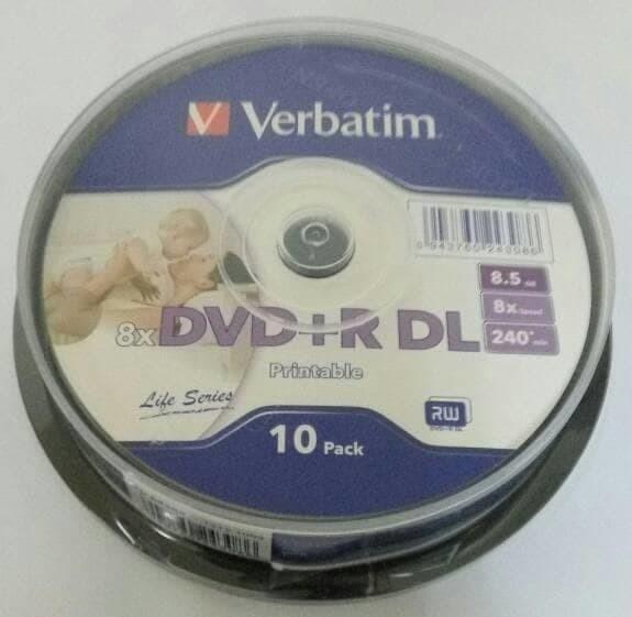 image relating to Verbatim Dvd R Printable named Jual Hemat VERBATIM DVD R DOUBLE LAYER 8GB PRINTABLE Contemporary - DKI Jakarta - Toko Barsha Tokopedia