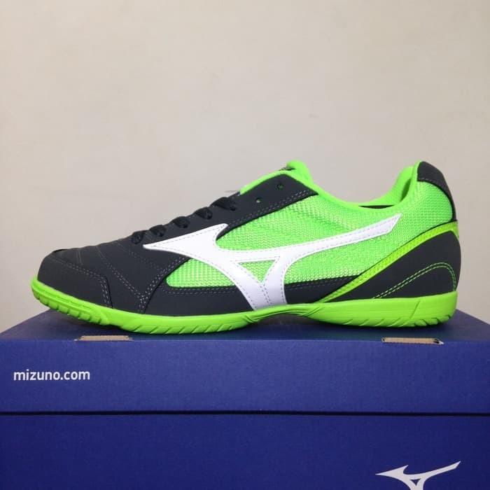 Promo Sepatu Futsal Mizuno Sala Club 2 IN Green Gecko Q1GA175105 Ori 92d07ea616