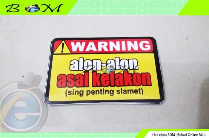 Jual Stiker Sticker Kata Kata Lucu Kecil Warning Alon Alon Asal Kelakon Kota Bekasi Anti Gores Murah Tokopedia