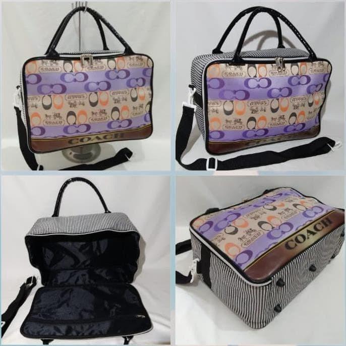 Terbaru N Trendy Tas Travel Bag Koper Renang London Paris Wanita
