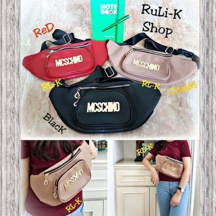 Jual Terbaru N Trendy Waist Bag Tas Slempang Moschino Wanita (Rl3 ... 72a0d95b55