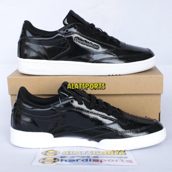 e8299ef481c3 Jual Sepatu Sneaker Wanita Reebok Club C 85 Patent BS9777 Black ...