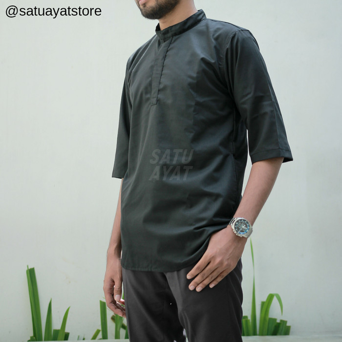 Jual Baju Koko Kurta Pakistan Pria Baju Muslim Qurta Katun Premium ... 93eed1135b