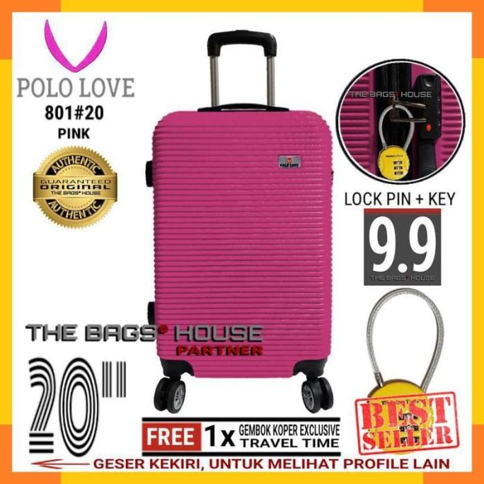 "RUMAHKOPER - POLO LOVE 801#20 KOPER HARD CASE 20"" - PINK + GEMBOK"