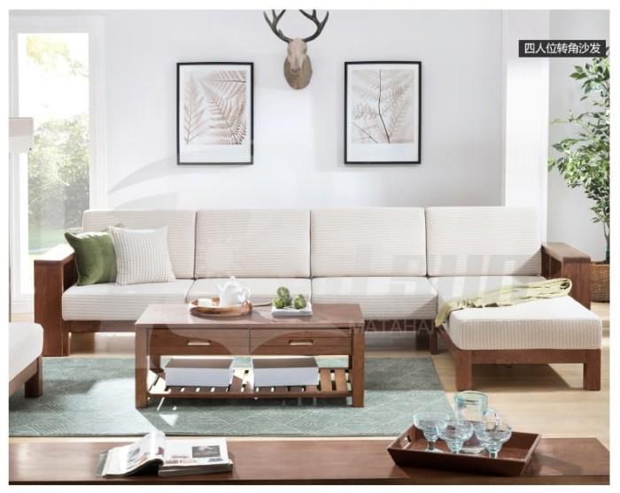 Jual Kursi Sofa Ruang Tamu Minimalis Coklat Modern Sudut L Kab