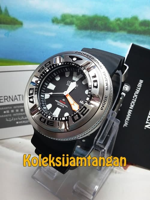 Jual CITIZEN BJ8050-08E Eco Drive Professional Diver Sport ORIGINAL ... 3d2d1df9b1