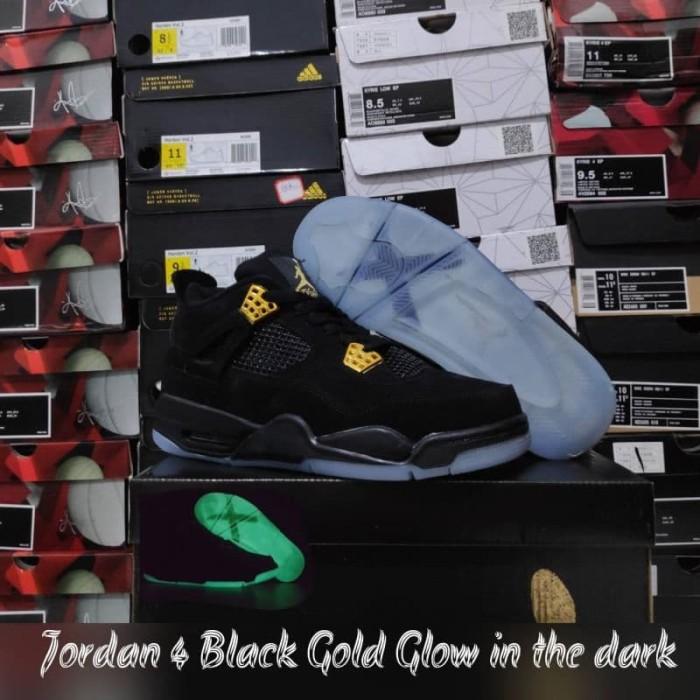 c051236662833c Jual Air Jordan 4 Black Gold Glow in the Dark - Nike Zoon Lebron 8 ...