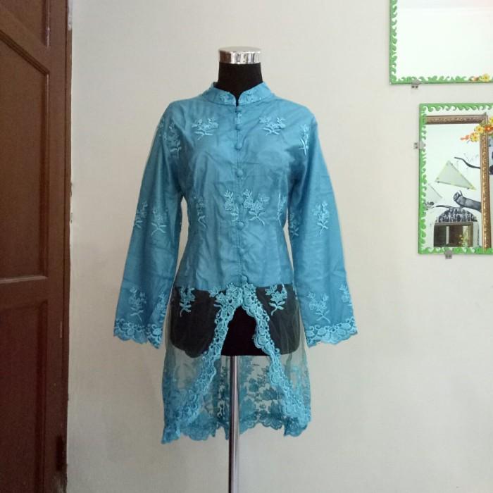 Jual Kebaya Muslim Sunda Brukat Modern Biru Biru Muda Kota Bandung Moonsluna Tokopedia