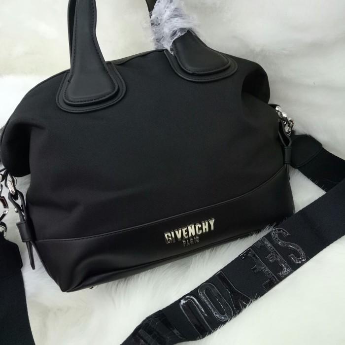 ... Wanita Source · Givenchy Nightingale Kanvas Top Handle Sling Bag Tas Selempang Hitam