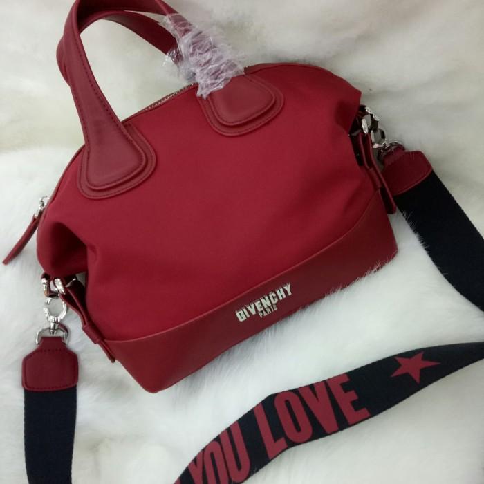 ... Givenchy Nightingale Kanvas Top Handle Sling Bag Tas Selempang Hitam