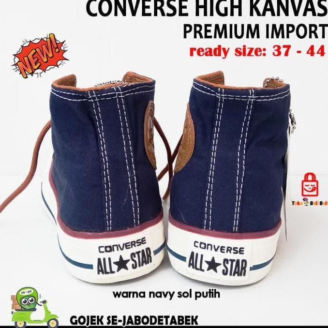 Jual Sepatu Converse High Kanvas Premium Import Navy. Sepatu Pria ... 7850d29def