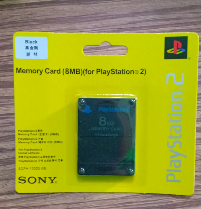 Memory card ps2 8mb mc ps2 memori playstation 8gb