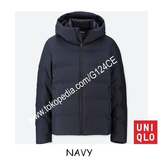 harga Jaket winter pria uniqlo parka down seamless jacket 400511 navy Tokopedia.com