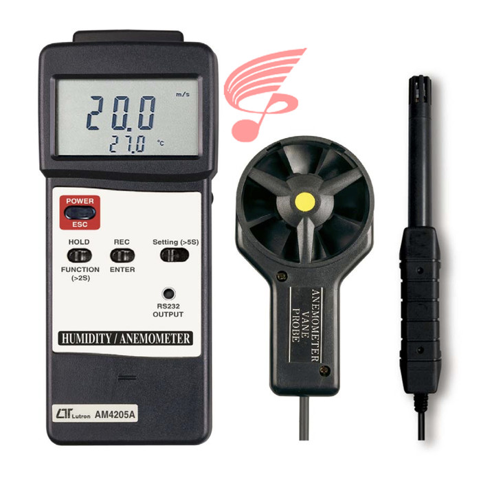 Foto Produk Lutron AM-4205A Humidity / Anemometer / Type K/J Thermometer - NON GARANSI dari DUTA PERSADA Instruments