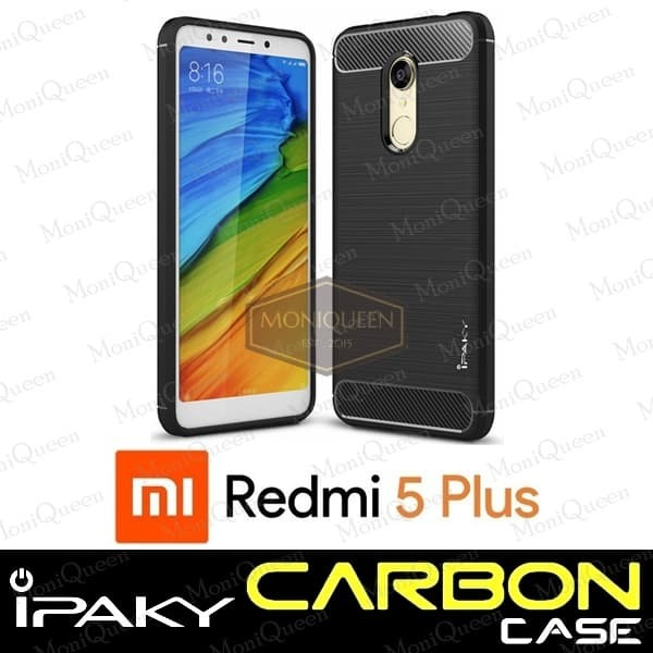 Xiaomi Redmi 5 Plus Case Ipaky Carbon Sarung Hp Case Handphone