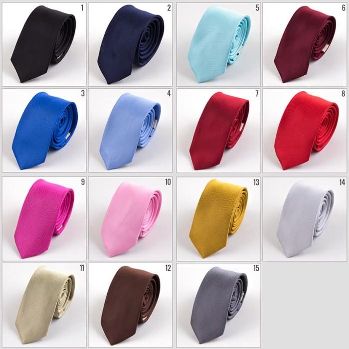 (Banyak Pilihan Warna) Dasi Slim Polos Salur 5cm / Dasi Formal - Blanja.com