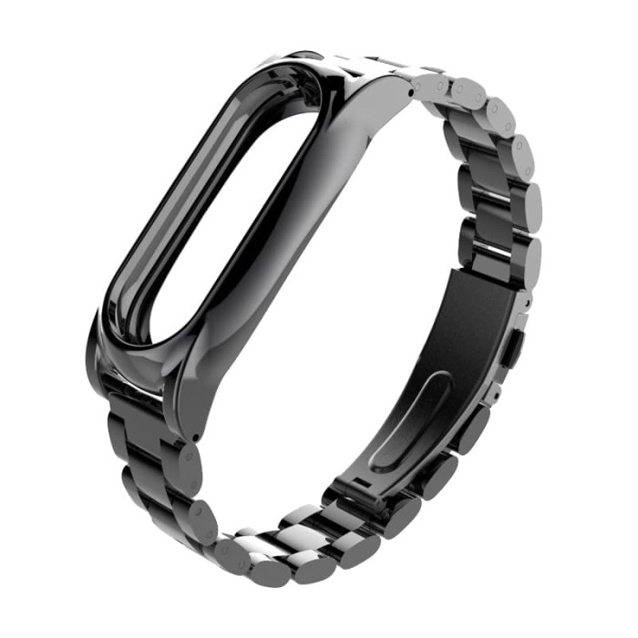 Foto Produk Miband 2 / Mi band 2 Strap Bracelet Metal New - Xiaomi Miband 2 - Hitam dari O-Gadget