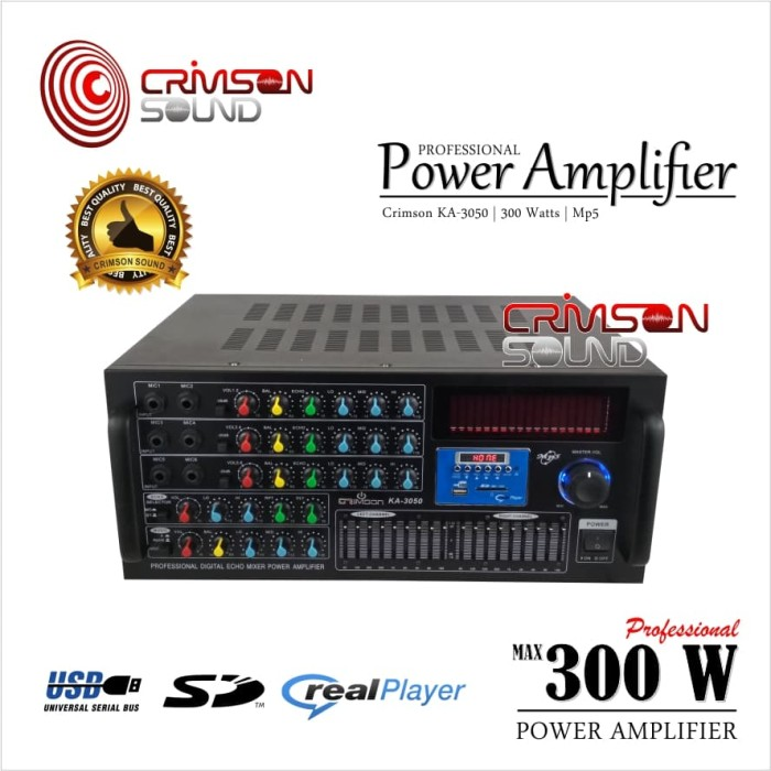 Jual POWER AMPLIFIER CRIMSON KA 3050 USB EQUALIZER - Jakarta Barat -  Crimson Sound | Tokopedia