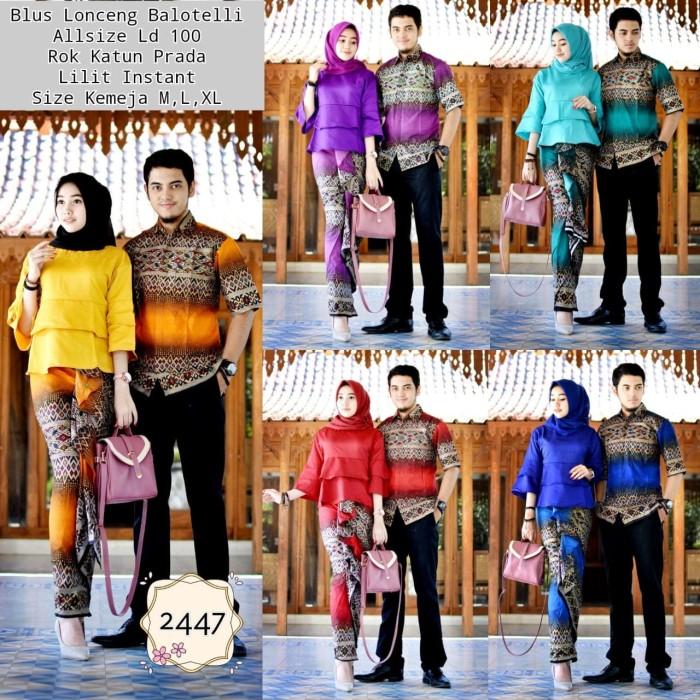 harga Lb 2447 blus balotelli couple batik sarimbit kemeja rok lilit instan Tokopedia.com