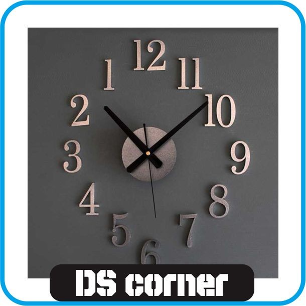 Jual Jam Dinding DIY Giant Wall Clock 25cm Diameter - Drop Ship ... dda9485d11