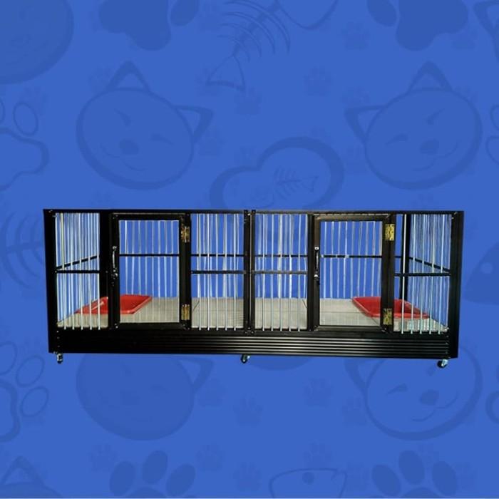 harga Kandang kucing aluminium migocat 2 kamar sejajar Tokopedia.com