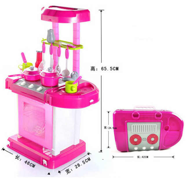 Mainan anak perempuan Kitchen set koper dapur masak masakan lengkap
