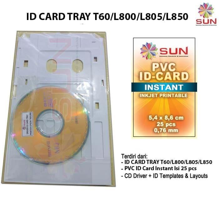 Jual Paket ID Card Tray Epson T60/ L800 / L850 + PVC 25 Pcs - Kota Surabaya  - SUN INDONESIA | Tokopedia