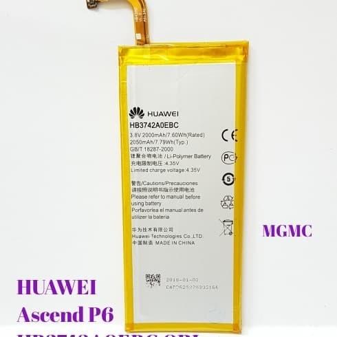 Jual Baterai Huawei Ascend P6 P6-U00 P6-C00 P6-T00 P6-U06 HB3742A0EBC ORI -  DKI Jakarta - Master Baterai | Tokopedia