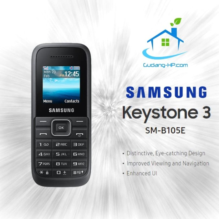 Jual Samsung Keystone 3 B105e Garanse Resmi Putih Gudang Hp