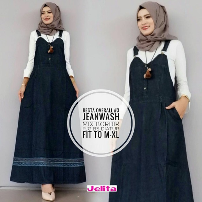 multi fashion Fashion Muslim - Dress - Jumpsuit Overall Syar I Rok