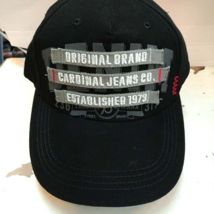 Topi casual  cotton cardinal original hitam abu 5093c52576