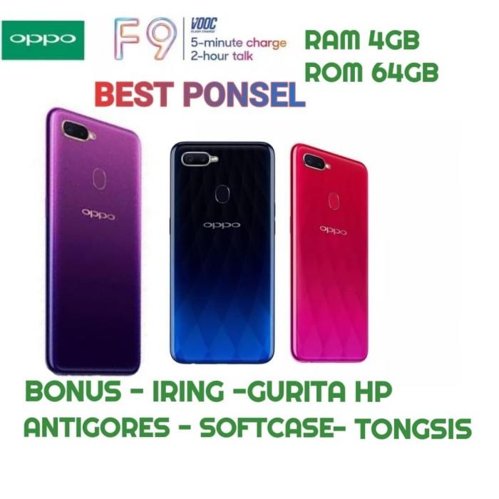 OPPO F9 RAM 4GB/64GB GARANSI RESMI OPPO INDONESIA 1 TAHUN - Biru