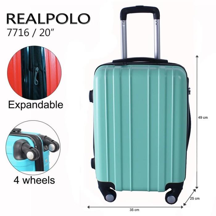 "Real Polo Tas Koper Hardcase Fiber - ABS 4 Roda Putar - GGAF Size 20"""
