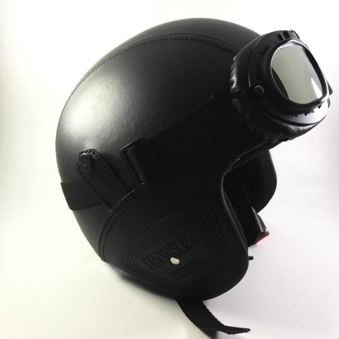 harga Helm bogo pilot kulit / retro / brimob   kacamata snail Tokopedia.com