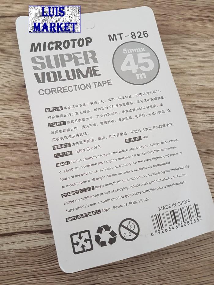 Tipe X tipx Penghapus Kertas Besar Microtop MT826