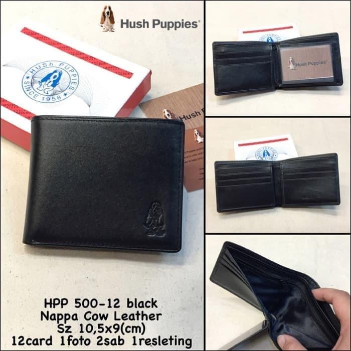 Harga Promo Dompet Pria Hush Puppies 500 12 Black Super Premium Dompet Kulit c6ceb078c2