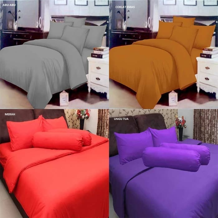 SPREI POLOS ROSEWELL BED COVER UKURAN SINGLE 120X200 BAHAN MICROTEX