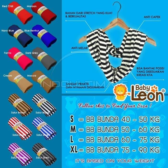 BABY LEON Gendongan Bayi Kaos Geos selendang Bayi Praktis BY 44 GB B