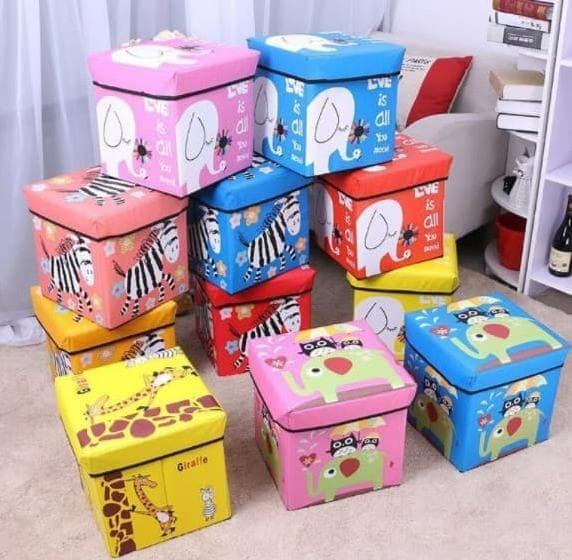 Foto Produk Sb004 - Animal Storage Box / Storage Stool / Tempat Mainan Ukuran 30Cm dari toko smiley333