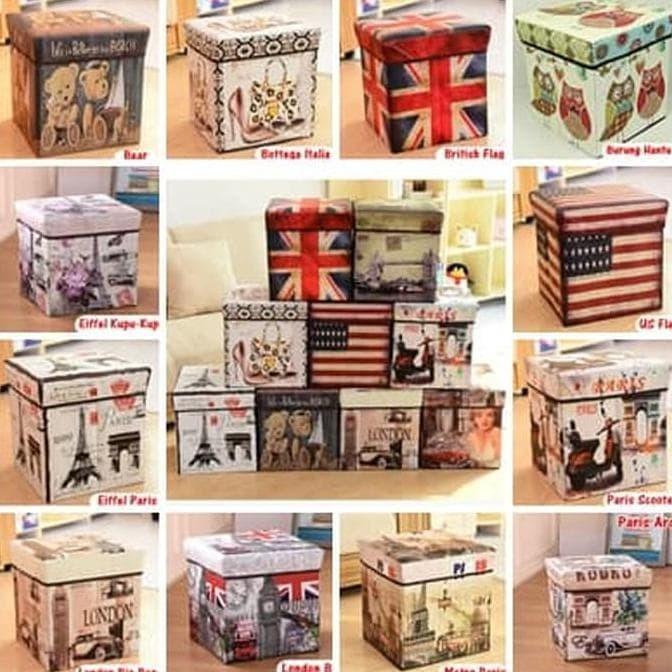 Foto Produk Sb003 - Storage Box / Storage Stool / Tempat Mainan Ukuran 30Cm - Us dari toko smiley333