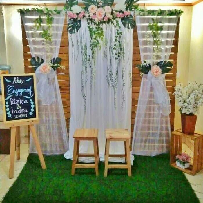 Jual Wooden Wedding Backdrop Full Set Dekorasi Jakarta Pusat